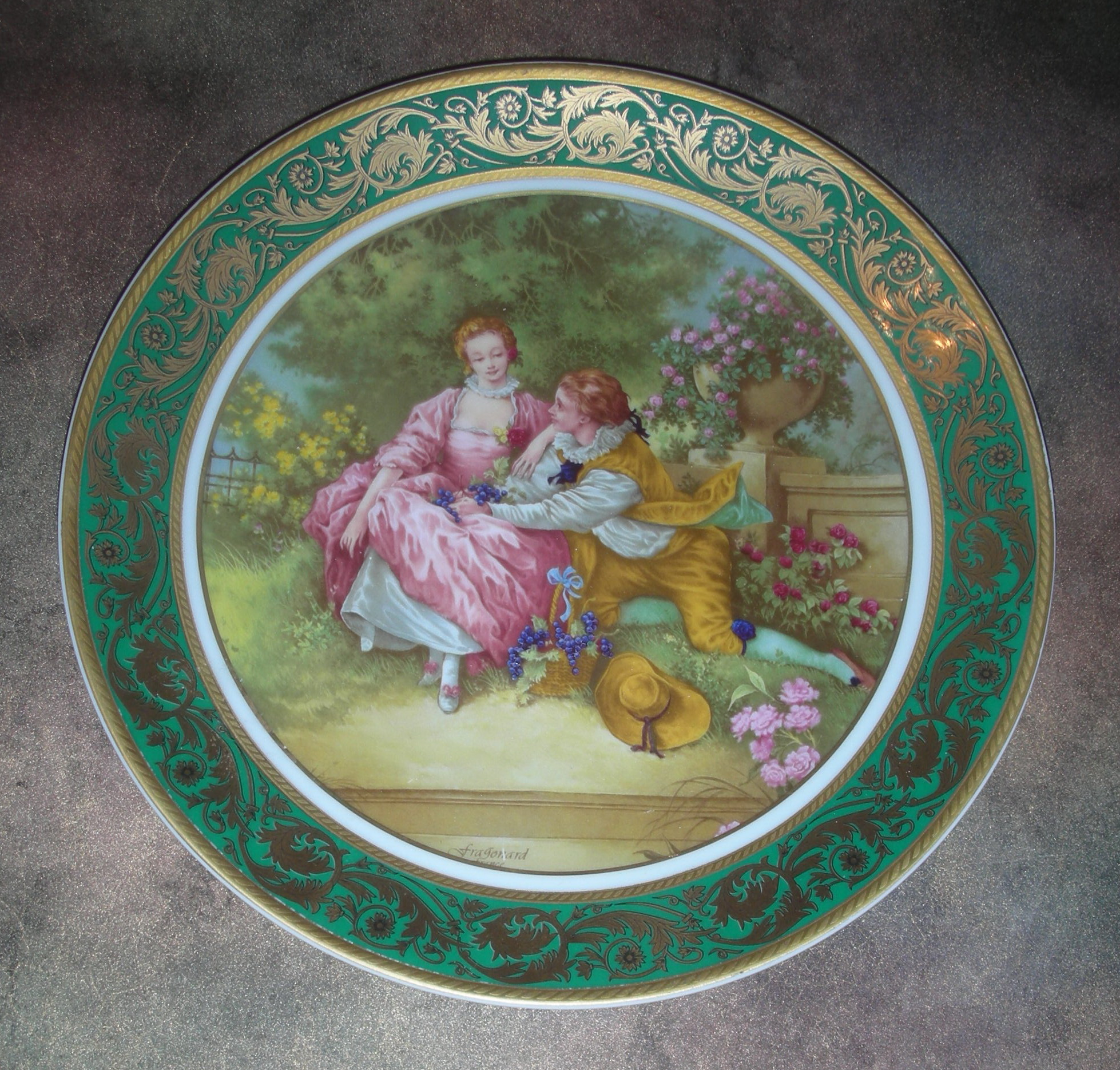 «Тарелка декоративная «Любовная пастораль»
