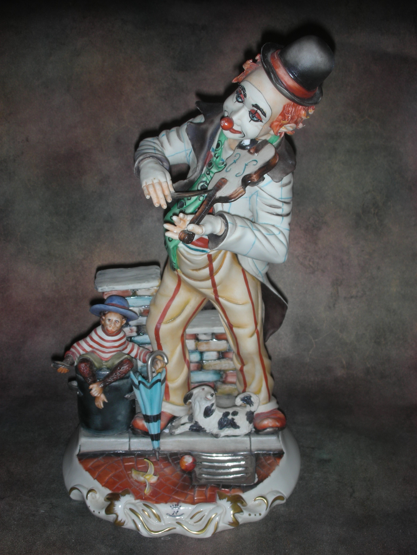 «Клоун — скрипач с обезьяной»