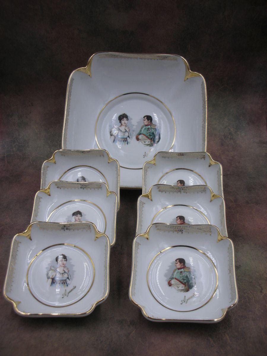 «Набор из салатника и 6 салатников индивидуальных«Наполеон и Жозефина»