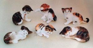 Вот эти котята: модели HN2579-2584, высота от 4 до 7 см.