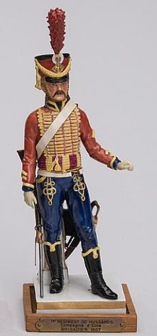 Гусар из серии наполеоновских солдат Густава Оппеля для Зитцендорфа.