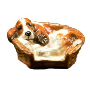 ФОТО 9. «Кокер-спаниель в корзине», 5 см, HN2585b