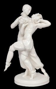 Густав Оппель Восточный танец (1919) 32 см Шварцбургские мастерские фарфорового искусства black